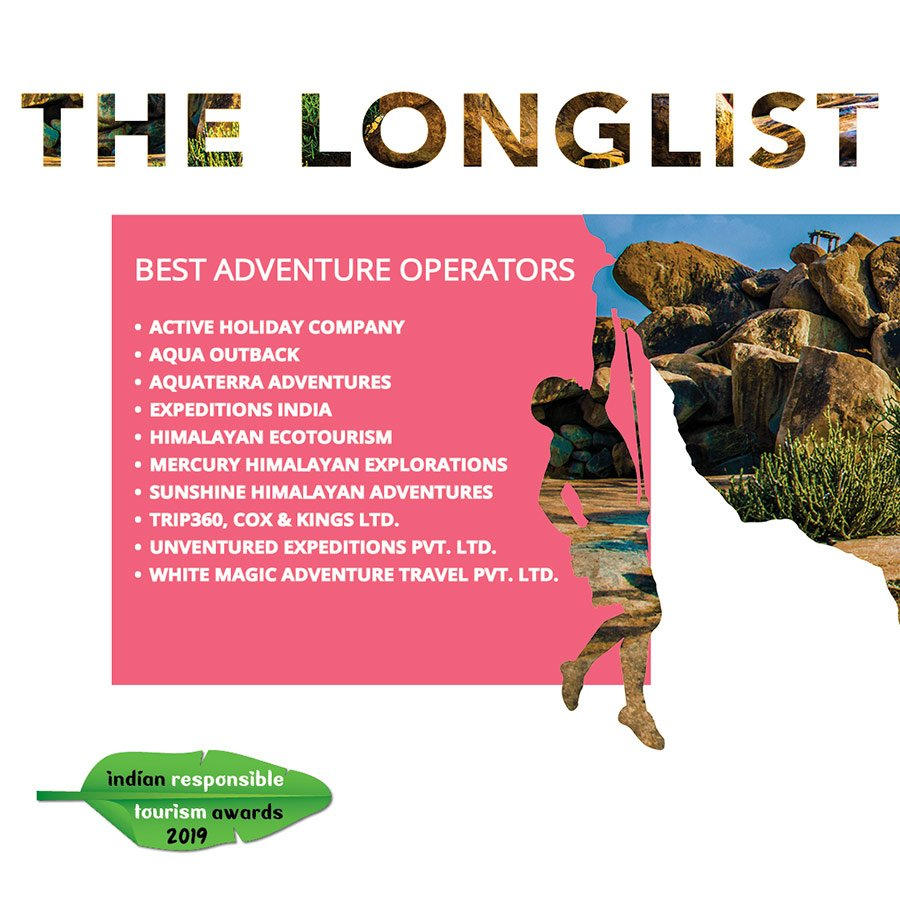 Aquaterra makes it to the longlist in the Outlook Responsible Tourism Awards 2020.